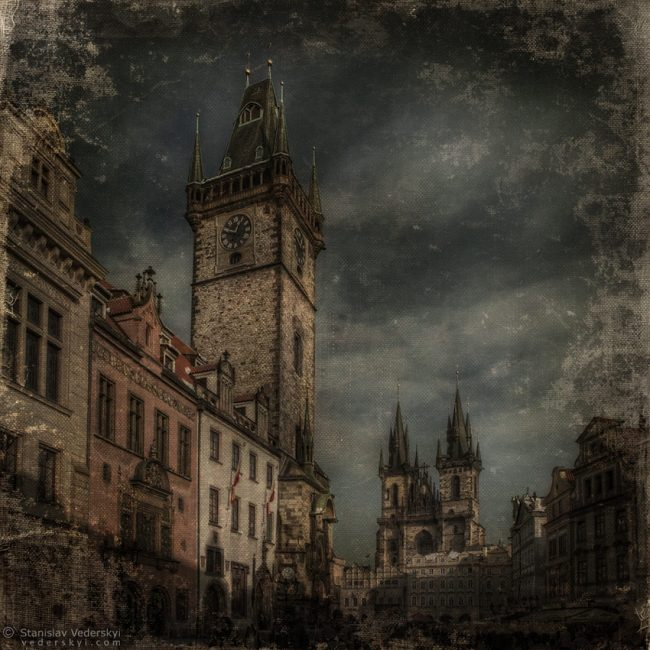 Old Prague photo manipulation. Старая Прага. Фото коллаж