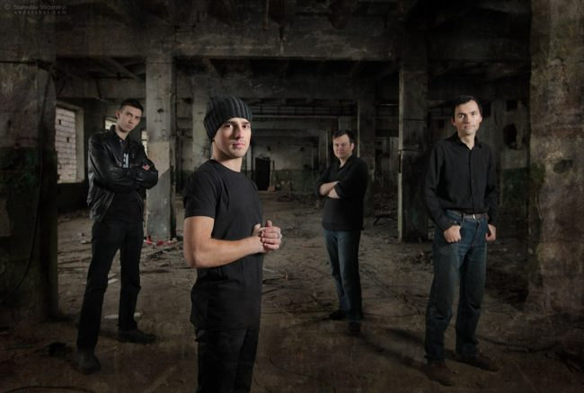 Photo session for rock band in abandoned factory in Kyiv фото сессия рок группы на заброшенном заводе в Киеве