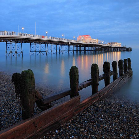 Sunset at Worthing pier, England