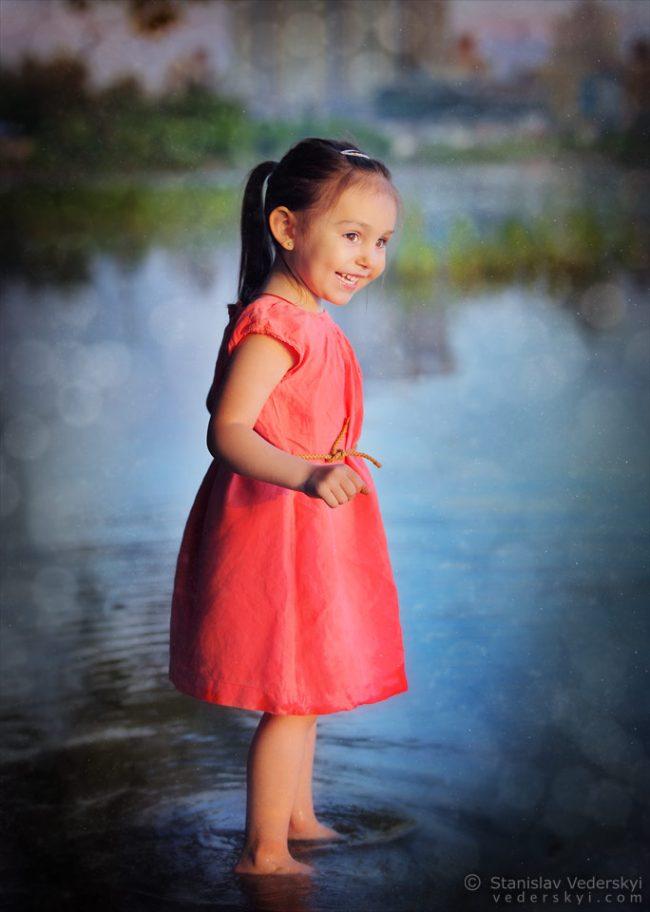 Детская фотосессия в Киеве девочка на природе закат лето | Child's photo session Kiev girl outdoor sunset summer