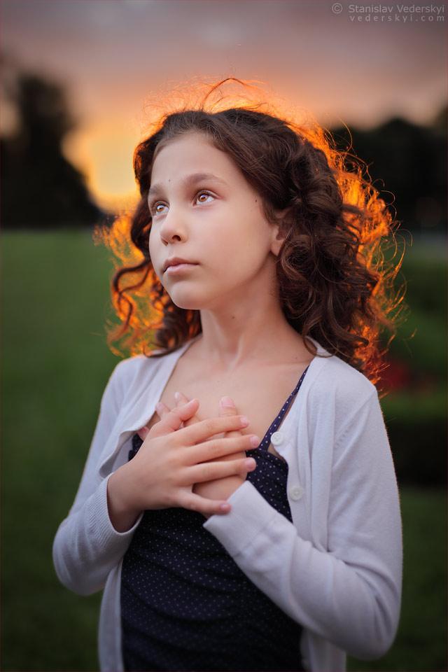 Красивая Фотосессия для детей в Киеве закат на природе | Beautiful photo session for children in Kiev sunset in the park