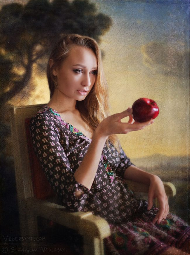 Фотосессия в Киеве девушка комната с окном фото коллаж | Photo session in Kiev girl room with window photo manipulation