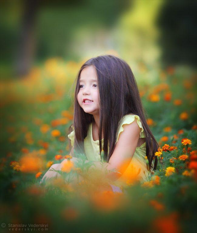 Фотосессия девочка в цветах Киев закат на природе | photo session girl in flowers. Kiev sunset in the park